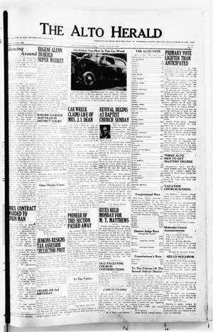 Primary view of object titled 'The Alto Herald (Alto, Tex.), No. 7, Ed. 1 Thursday, July 31, 1952'.