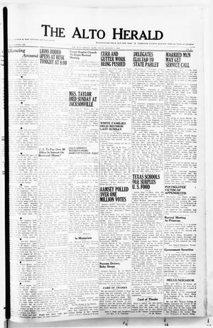 Primary view of object titled 'The Alto Herald (Alto, Tex.), No. 8, Ed. 1 Thursday, August 7, 1952'.