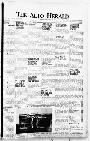 Primary view of object titled 'The Alto Herald (Alto, Tex.), No. 9, Ed. 1 Thursday, August 14, 1952'.