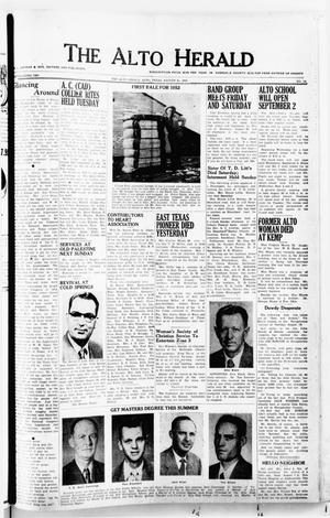 The Alto Herald (Alto, Tex.), No. 10, Ed. 1 Thursday, August 21, 1952