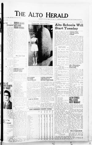 Primary view of object titled 'The Alto Herald (Alto, Tex.), No. 11, Ed. 1 Thursday, August 28, 1952'.