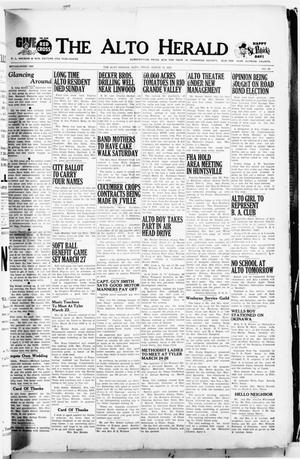 Primary view of object titled 'The Alto Herald (Alto, Tex.), No. 39, Ed. 1 Thursday, March 12, 1953'.