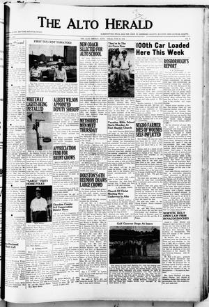 Primary view of object titled 'The Alto Herald (Alto, Tex.), No. 2, Ed. 1 Thursday, June 24, 1954'.