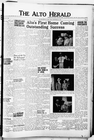 The Alto Herald (Alto, Tex.), No. 16, Ed. 1 Thursday, September 30, 1954