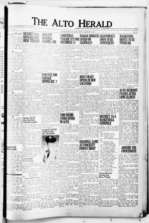 Primary view of object titled 'The Alto Herald (Alto, Tex.), No. 25, Ed. 1 Thursday, December 2, 1954'.