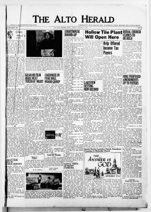 Primary view of object titled 'The Alto Herald (Alto, Tex.), No. 30, Ed. 1 Thursday, January 5, 1956'.