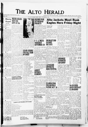 The Alto Herald (Alto, Tex.), No. 15, Ed. 1 Thursday, September 20, 1956