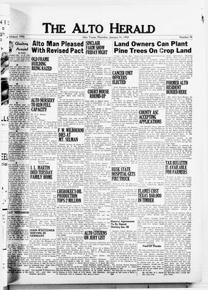 The Alto Herald (Alto, Tex.), No. 34, Ed. 1 Thursday, January 31, 1957