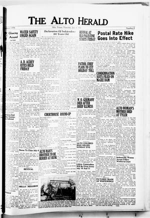 Primary view of object titled 'The Alto Herald (Alto, Tex.), No. 4, Ed. 1 Thursday, July 4, 1957'.