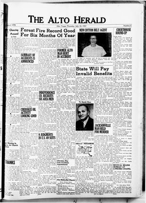 The Alto Herald (Alto, Tex.), No. 6, Ed. 1 Thursday, July 18, 1957