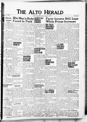 The Alto Herald (Alto, Tex.), No. 9, Ed. 1 Thursday, August 8, 1957