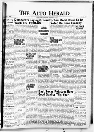 The Alto Herald (Alto, Tex.), No. 18, Ed. 1 Thursday, October 10, 1957