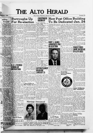The Alto Herald (Alto, Tex.), No. 32, Ed. 1 Thursday, January 16, 1958