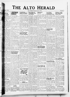 Primary view of object titled 'The Alto Herald (Alto, Tex.), No. 3, Ed. 1 Thursday, June 26, 1958'.