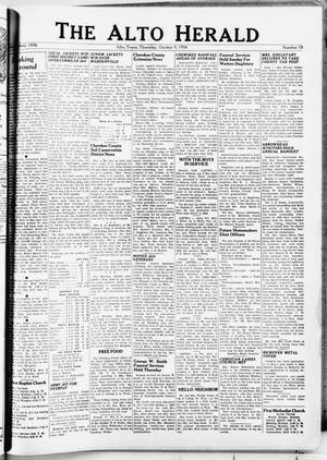 Primary view of object titled 'The Alto Herald (Alto, Tex.), No. 18, Ed. 1 Thursday, October 9, 1958'.