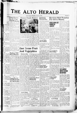 Primary view of object titled 'The Alto Herald (Alto, Tex.), No. 3, Ed. 1 Thursday, June 25, 1959'.