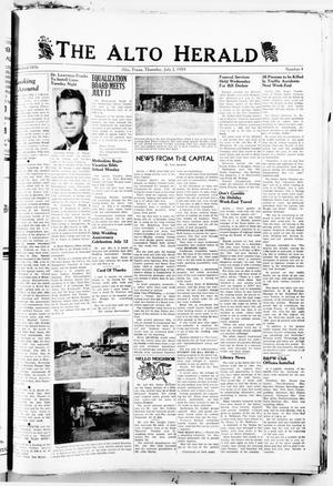 Primary view of object titled 'The Alto Herald (Alto, Tex.), No. 4, Ed. 1 Thursday, July 2, 1959'.
