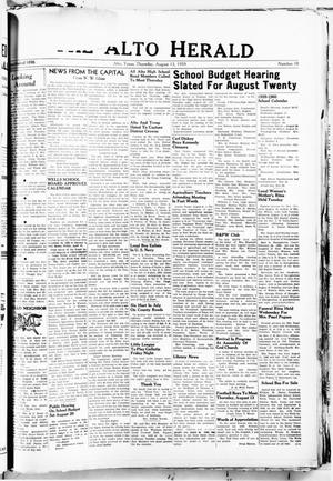 The Alto Herald (Alto, Tex.), No. 10, Ed. 1 Thursday, August 13, 1959