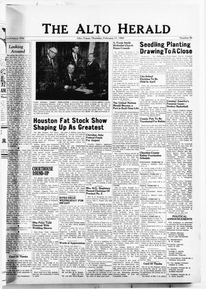 The Alto Herald (Alto, Tex.), No. 36, Ed. 1 Thursday, February 11, 1960
