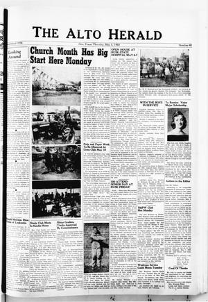 The Alto Herald (Alto, Tex.), No. 48, Ed. 1 Thursday, May 5, 1960