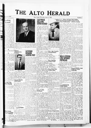 Primary view of object titled 'The Alto Herald (Alto, Tex.), No. 1, Ed. 1 Thursday, June 9, 1960'.