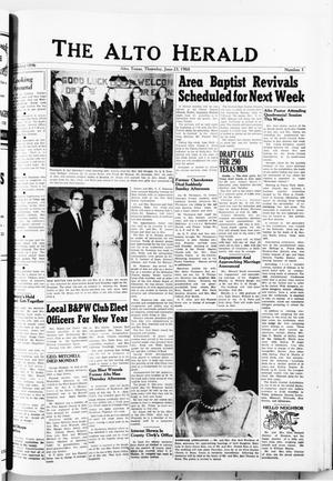 The Alto Herald (Alto, Tex.), No. 3, Ed. 1 Thursday, June 23, 1960