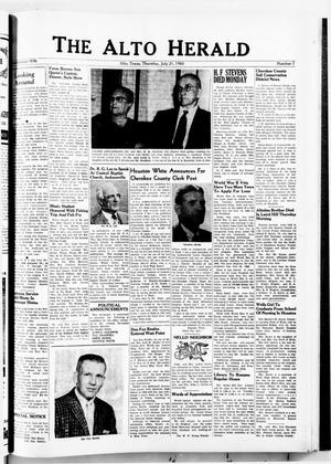 The Alto Herald (Alto, Tex.), No. 7, Ed. 1 Thursday, July 21, 1960