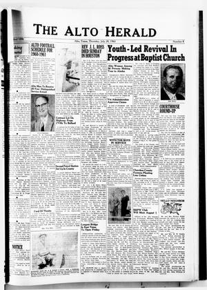The Alto Herald (Alto, Tex.), No. 8, Ed. 1 Thursday, July 28, 1960