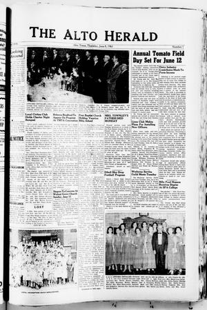 The Alto Herald (Alto, Tex.), No. 1, Ed. 1 Thursday, June 8, 1961