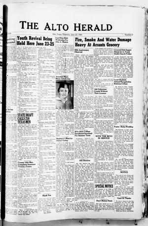 The Alto Herald (Alto, Tex.), No. 3, Ed. 1 Thursday, June 22, 1961