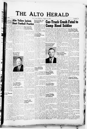 The Alto Herald (Alto, Tex.), No. 11, Ed. 1 Thursday, August 17, 1961
