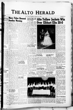 The Alto Herald (Alto, Tex.), No. 19, Ed. 1 Thursday, October 12, 1961