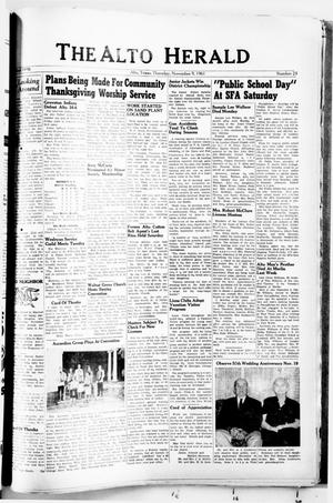 The Alto Herald (Alto, Tex.), No. 23, Ed. 1 Thursday, November 9, 1961