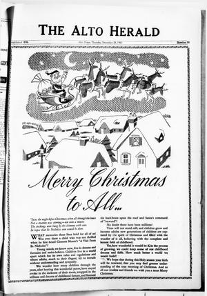 The Alto Herald (Alto, Tex.), No. 30, Ed. 1 Thursday, December 28, 1961