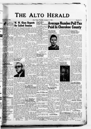 The Alto Herald (Alto, Tex.), No. 32, Ed. 1 Thursday, January 11, 1962