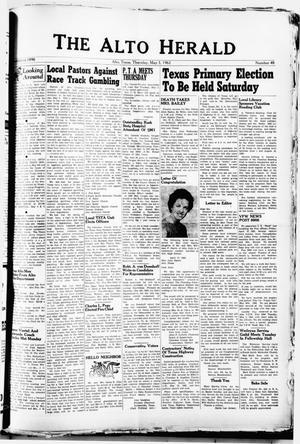 Primary view of The Alto Herald (Alto, Tex.), No. 48, Ed. 1 Thursday, May 3, 1962