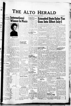 The Alto Herald (Alto, Tex.), No. 3, Ed. 1 Thursday, June 20, 1963