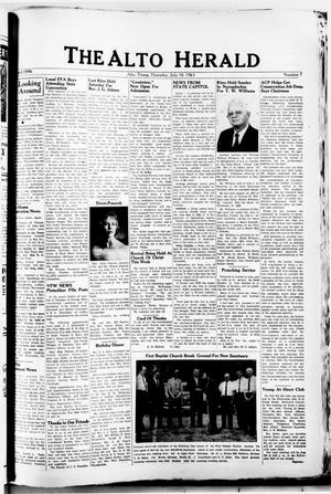 Primary view of object titled 'The Alto Herald (Alto, Tex.), No. 7, Ed. 1 Thursday, July 18, 1963'.