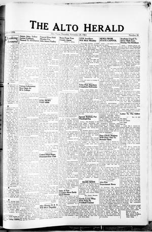 Primary view of object titled 'The Alto Herald (Alto, Tex.), No. 26, Ed. 1 Thursday, November 28, 1963'.