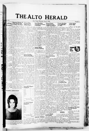 Primary view of object titled 'The Alto Herald (Alto, Tex.), No. 1, Ed. 1 Thursday, June 4, 1964'.