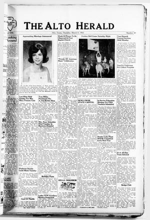 Primary view of object titled 'The Alto Herald (Alto, Tex.), No. 40, Ed. 1 Thursday, March 4, 1965'.
