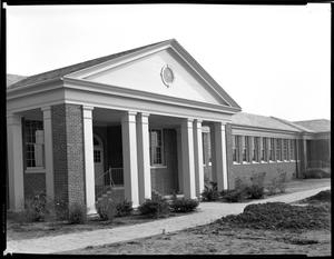 Primary view of object titled '[Old Demonstration School, Speech Therapy Building]'.