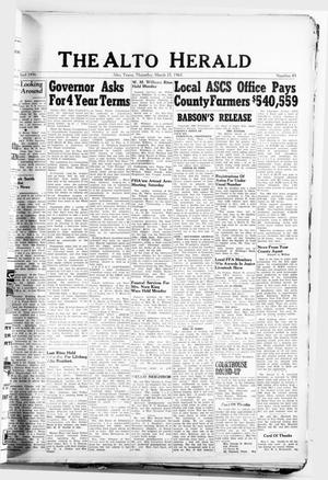 The Alto Herald (Alto, Tex.), No. 43, Ed. 1 Thursday, March 25, 1965
