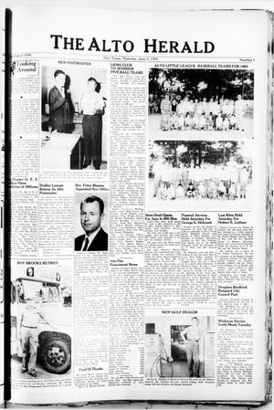 The Alto Herald (Alto, Tex.), No. 1, Ed. 1 Thursday, June 3, 1965