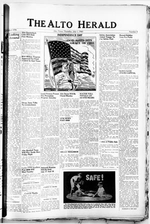 Primary view of object titled 'The Alto Herald (Alto, Tex.), No. 5, Ed. 1 Thursday, July 1, 1965'.