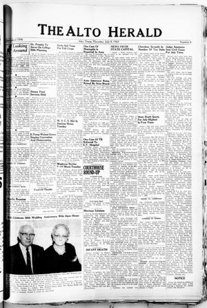 Primary view of object titled 'The Alto Herald (Alto, Tex.), No. 6, Ed. 1 Thursday, July 8, 1965'.