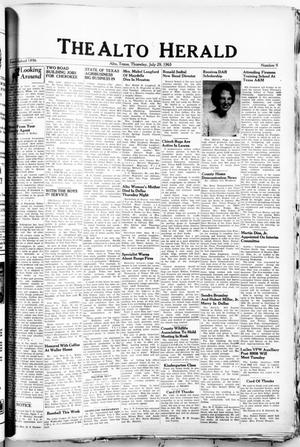 Primary view of object titled 'The Alto Herald (Alto, Tex.), No. 9, Ed. 1 Thursday, July 29, 1965'.