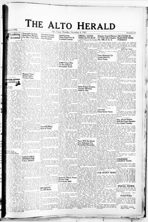 Primary view of object titled 'The Alto Herald (Alto, Tex.), No. 23, Ed. 1 Thursday, November 4, 1965'.