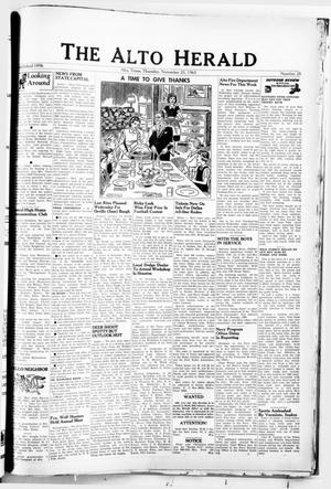 Primary view of object titled 'The Alto Herald (Alto, Tex.), No. 26, Ed. 1 Thursday, November 25, 1965'.