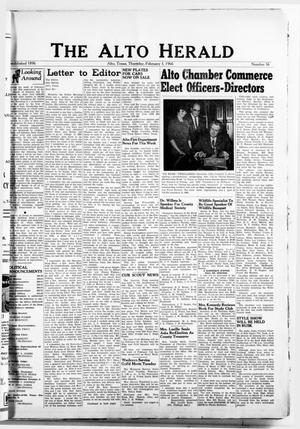 Primary view of object titled 'The Alto Herald (Alto, Tex.), No. 36, Ed. 1 Thursday, February 3, 1966'.